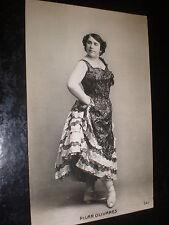 Old postcard dancer ballet shoes Pilar Olivares c1920s Spain