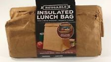 Reusable Insulated Lunch Bag Tear & Water Resistant Magnetic Closure Fresh Food