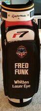 Fred Funk Autographed Taylormade R7 full size golf bag Summer 05 season open 1/2