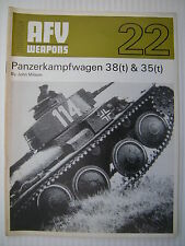 Profile AFV Weapons 22 - Panzerkampfwagen 38(t) & 35(t) - November 1970