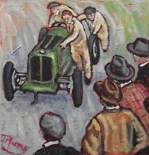 British Racing Green : Original Oil Painting on Canvas by Jane Murray