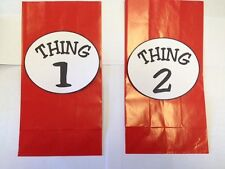 10 Dr. Seuss CAT in the HAT Party Supplies ~ Thing One and Thing Two Treat Bags