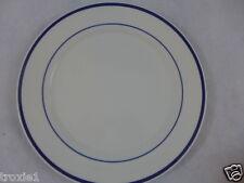 """Oneida  Dinner Plate Maitre d'  11"""" White & Blue"""