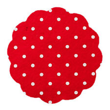 Polka Dot Spot Spotty Wool Blend Felt Fabric Square - Choice of Colours