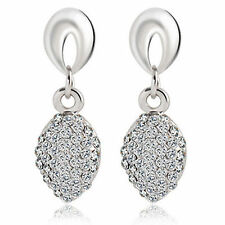 BRIDAL/Wedding Silver Diamanté/Crystal/CubicZirconia Pave Drop Earrings-UKSELLER