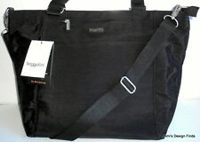 BAGGALLINI Boulevard LAPTOP TOTE *NEW* Black Nylon Crossbody Shoulder Padded NWT