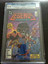 LEGENDS 1 CGC 9.6 WHITE PAGES 1ST AMANDA WALKER