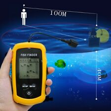 100M LCD Fish Finder Alarm Sonar Depth Sensor Portable Fishfinder Transducer