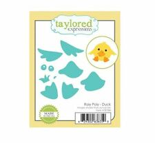Taylored Expressions Cutting Die Set ROLY POLY ~ DUCK Circles, Critter ~TE788