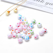 Wholesale 30PCS 7X8mm Acrylic smiley Spacer Loose Beads YZ153 NEW A