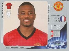 N°520 EVRA # FRANCE MANCHESTER UNITED CHAMPIONS LEAGUE 2013 STICKER PANINI