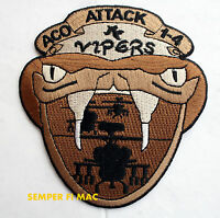 A COMPANY VIPERS 1-4 ATTACK PATCH US ARMY HELICOPTER HELO PIN UP AH 64 APACHE