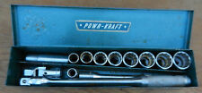 "Vintage POWR KRAFT 1/2"" Socket Set Breaker Bar Universal Extension 7/16 - 1""  B4"