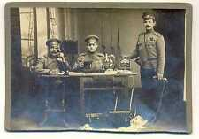 Russian WWI Regiment Signals Point Photo Mosin Berdan Rifle Bayonet Medals Badge
