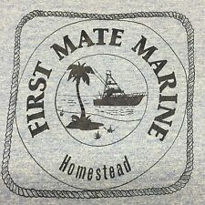Vintage First Mate Marine Homestead Rayon Tri-blend Sunset Beach Boat T-shirt
