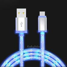 3ft./1m Smart Phone USB-C TO USB-A 3.0 Charge Cable With Blue LED Light