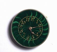 SWISS CYLINDER WATCH MOVEMENT HIGH GRADE QUALITY SUPERB GREEN ENAMEL DIAL TT112