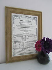 PERSONALISED 40th RUBY Wedding Anniversary Present Gift Scroll