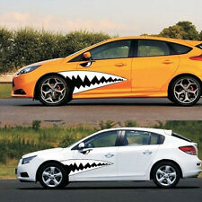 2x Cool Car Sticker Shark Tooth Teeth Graphics Decal Vinyl Waterproof Reflective