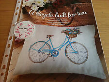CROSS STITCH CHART FLOWER BASKET BICYCLE CHART FLORAL BIKE CYCLE CHART