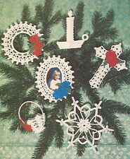 LOVELY Thread Christmas Tree Trims/Decor/Crochet Pattern Instructions