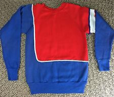 Vintage New 80's Pannill Sweatshirt Company Multi-Color Blocked Sweatshirt S