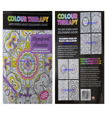 Adult Anti-Stress Colouring Book Colour Therapy Magnificent Mandalas 64 Pages