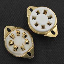 4PCS Ceramic 7Pin U7B Tube Socket For FU25,826,832,53,Gold Plated,Chassis