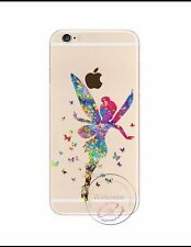 Disney Rainbow Tinkerbell Fairy Clear Silicone Gel Case For iPhone 6/6s. BN.