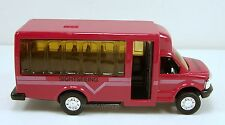 """5"""" New Diecast Toy Model Tour Airport Shuttle Bus Sightseeing Burgundy #130"""