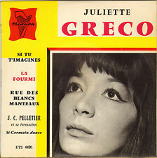 "JULIETTE GRECO ""SI TU T'IMAGINE"" 60'S EP TRIANON 4401"