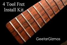 4 TOOL BEGINNER FRET REPAIR / INSTALL KIT for Guitar / Pullers File Level Punch