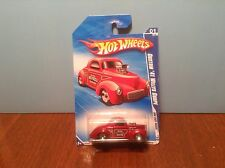 Hot Wheels Custom '41 Willys Coupe #139 HW Hot Rods #1 of 10 2010 Dark Red 1941