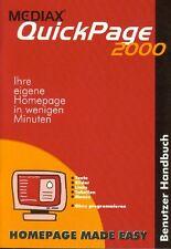 Benutzer Handbuch Mediax QuickPage 2000 + CD Version 1.2