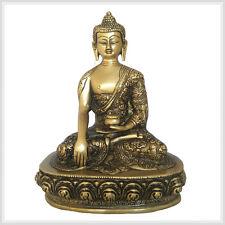 Erdender Buddha 23cm aprox. 2,6 kg de latón personaje Nepal Tibet india budismo mudra