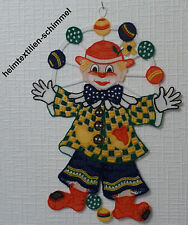 PLAUENER SPITZE ® Fensterbild KINDER Fensterdekoration CLOWN Kinder CIRCUS Deko