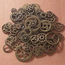 100X Antiqued Bronze Alloy Mixed Gear Wheel Pendant Charms Clock Steampunk Gear#