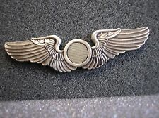 "UNIFORM INSIGNIA - U.S ARMY AIR FORCES OBSERVER WINGS - 2-3/4"" REPLICA"