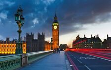 POSTER LONDRA LONDON UK UNITED KINGDOM EYE BIG BEN BRIDGE PHOTO WALLPAPER FOTO 2