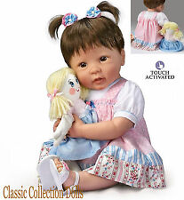 "Ashton Drake ""MOLLY & RAGS"" - LIFELIKE ""TALKING"" BABY GIRL DOLL-NEW-IN STOCK NOW"