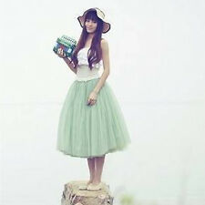 Women's Girls Tutu Skirt Elastic Waist Ballet Tulle Dress Wedding Prom Petticoat