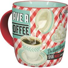 Have A Coffee retro Tasse Rockabilly 50er in stabiler Kartonverpackung