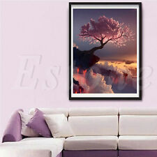 DIY 5D Diamond Cherry Trees Embroidery Painting Cross Stitch Craft Home Decor