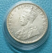 British India,1916,George V King Emperor One Rupee Silver Coin