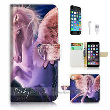 iPhone 6 / 6S (4.7') Flip Wallet Case Cover! P1058 Horse with Wing