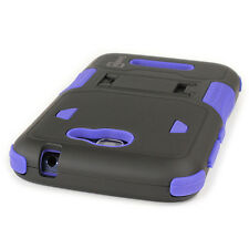 For ALCATEL One Touch Fierce 2 / Pop Icon Case - Blue & Black Shockproof Cover