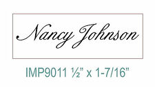 """Personalized """"Your NAME"""" Custom 1 Line Designer Self Inking Rubber stamp"""