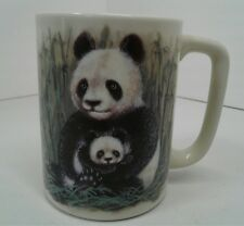 Otagiri Panda Bear Coffee Mug/Cup Bamboo Mama/Baby -Excellent Condition!-