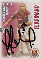 West Ham United F.C Anton Ferdinand Hand Signed 06/07 Premiership Shoot Out Card