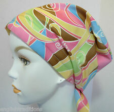 Fun English Traditions Chemo Cancer Alopecia Hairloss Scarf Hat Turban Headwrap